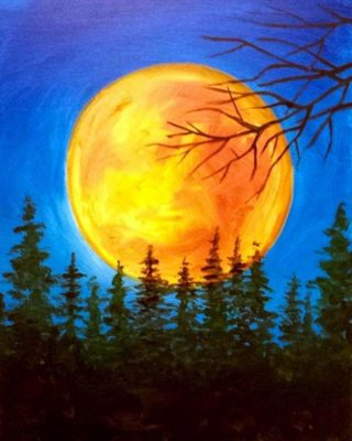 Private Paint Party (Orange Full Moon)