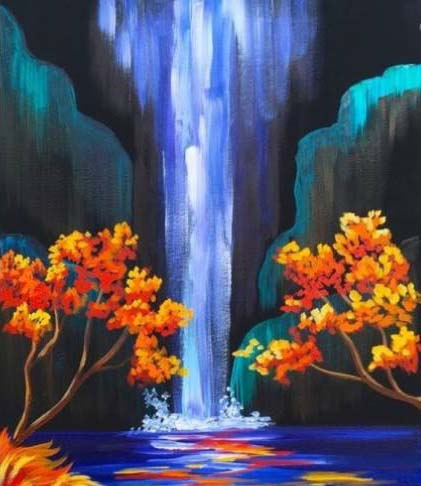 Relaxing Waterfall Paint Party