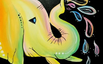 Private Paint Party (Colorful Elephant)